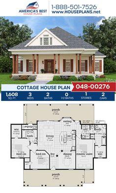 Small House Floor Plans, Bungalow House Plans, Family House Plans, Best House Plans, Dream House Plans, Square House Plans, Tiny Cottage Floor Plans, House Design Plans, Sims House Plans