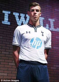 ~ Gareth Bale unveiling the new Tottenham Hotspur home kit. This publicity might show that Gareth Bale will not be sold this summer ~