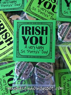 St Patrick's Day Green Peppermint Patty Paddy by themudpiestudio - Great for teacher appreciation