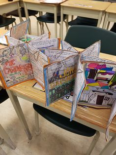 Book Report Craftivities - these are awesome!!! Such a great display ... AND display of learning!