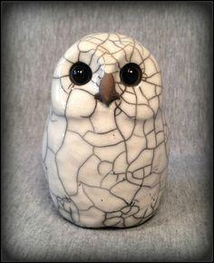 OOAK Raku Owl ODESSA sculpture by SmilesUnlimited on Etsy, $65.00