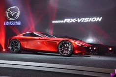 "Mazda RX-VISION powered by SKYACTIV-R was unveiled at The 44th Tokyo Motor Show 2015 Press conference: The ""RX"" has come back. Photo via CarWatch (http://car.watch.impress.co.jp/docs/event_repo/2015tokyo/20151028_727763.html) #MAZDA"