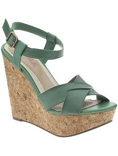 Cute wedges in different colors! I have a gorg nude pair from Michael Kors, can I treat myself to a bright pair? ;) $59