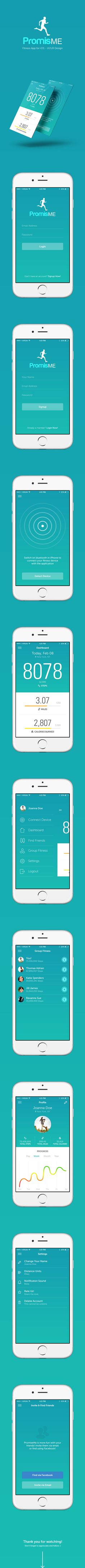 PromiseMe | Fitness App UI Design on Behance
