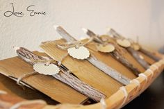 """handmade journals for a pow-wow birthday party favor. wooden colored pencils from World Market """"Love, Emmie"""""""