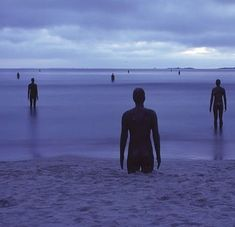 Anthony Gormley 'Another Place', South Crosby Beach, Lancashire, UK