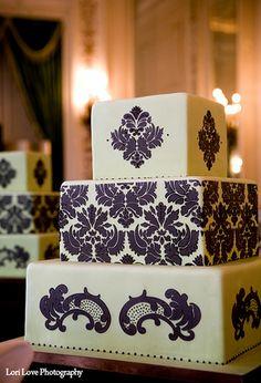 Stenciled Cake  by Designer Cakes