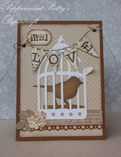 tim holtz die, love the colors, would be a great guy card