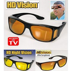 01e11fd031 100% UV protection 2 Sets HD Night amp Day Vision Wraparound Sunglasses  Fits over gs