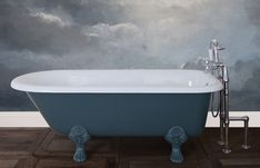 Traditional roll top baths made from copper, cast iron and brass, complemented with our range of bathroom accessories. Stiffkey Blue, Cast Iron Bathtub, Copper Bath, Roll Top Bath, Steel Wool, Farrow Ball, Clawfoot Bathtub, Bathroom Accessories, It Cast