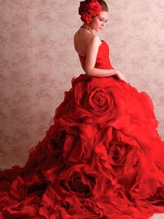Rose Dresses Are Surprisingly Amazing - Beradiva Ball Dresses, Ball Gowns, Evening Dresses, Prom Dresses, Formal Dresses, Red Wedding Dresses, Wedding Gowns, Red Gowns, Fantasy Dress