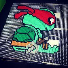 TMNT Raphael perler beads by xpeachheart