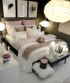 dream rooms for adults ; dream rooms for women ; dream rooms for couples ; dream rooms for adults bedrooms ; dream rooms for girls teenagers Dream Rooms, Dream Bedroom, Home Bedroom, Bedroom Black, Bedroom Size, Bedroom Apartment, Apartment Interior, Apartment Ideas, Warm Bedroom