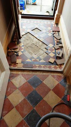 Quarry and Victorian Tiles Repaired, Cleaned and Sealed in Swansea - South East Wales Tile Doctor Minton Tiles, Hallway Decorating, Victorian Windows, Tiles, Victorian Hallway, Beautiful Tile Floor, Tile Repair, Victorian Tiles, Victorian