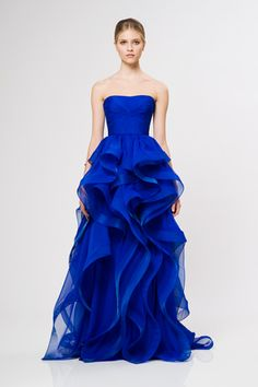 Reem Acra Resort 2013 | if I don't see this on one red carpet, I will be very disappointed