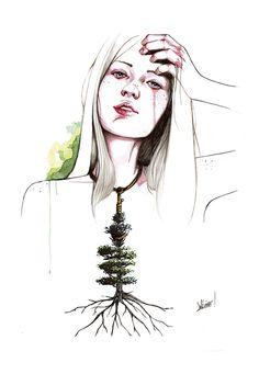 El árbol que encontrar colgado de una chica. (2013)