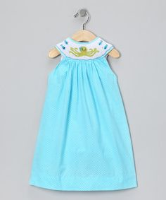 Take a look at this Blue Polka Dot Octopus Yoke Dress - Infant, Toddler & Girls by Marjorie's Daughter on #zulily today!
