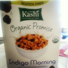 I couldn't resist Kashi's Indigo Morning cereal when I came across it.  I've been eating it everyday while editing #IndigoWaters!  It's delicious :)