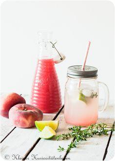 Peach Iced Tea Thyme uploaded by Ʈђἰʂ Iᵴɲ'ʈ ᙢᶓ Peach Ice Tea, Food Porn, Clean Eating, Healthy Eating, Frappe, Canning Recipes, Iced Tea, Cocktail Drinks, Summer Recipes