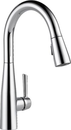 Delta 9113-DST Essa Single Handle Pull-Down Kitchen Faucet with Magnatite Docking and Touch-Clean Spray Head - Chrome