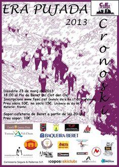 #ActividadesenelValle · Sáb23 · 'ERA PUJADA - CRONO-SKI' en el Pla de #Beret Organiza: club Excursionista d'Aran