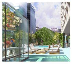 The Line Hotel pool rendering