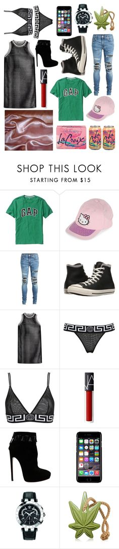 """""""white wine: Inspired by lil peep x lil tracy"""" by milkyspill ❤ liked on Polyvore featuring Gap, Hello Kitty, AMIRI, Converse, DAMIR DOMA, Versace, Alaïa and Off-White"""