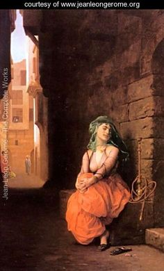 Arab Girl With Waterpipe - Jean-Léon Gérôme - www.jeanleongerome.org