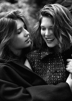 Adele Exarchopoulos and Lea Seydoux from Blue Is The Warmest Color Lea Seydoux Adele, Matteo Montanari, Adele Exarchopoulos, Blue Is The Warmest Colour, Ex Machina, Portraits, French Actress, Lesbian Love, Girls In Love