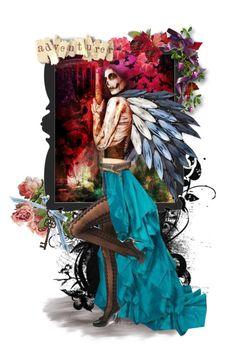 """Dark Adventurer"" by kyckastra ❤ liked on Polyvore featuring art"