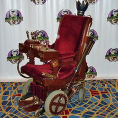 victorian platform rocking chair with a permobil power wheelchair Steampunk House, Steampunk Gears, Wheelchair Accessories, Powered Wheelchair, Spinal Cord Injury, Antique Stores, Disability, Inventions, Creations