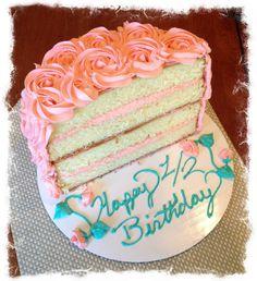 Elegant Photo of Half Birthday Cake . Half Birthday Cake Half Birthday Cake Need To Start Celebrating My Hubs Half Happy Half Birthday, Half Birthday Cakes, Baby Birthday, Birthday Ideas, Birthday Pictures, Girl Cakes, Cake Smash, Themed Cakes, Birthday Celebration