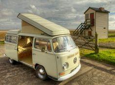 VW Westy Campervan parking up