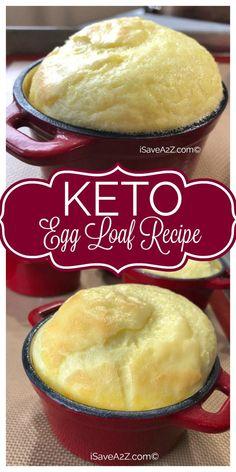 Keto Egg Loaf Recipe pinterest Egg Loaf Recipe, Keto Egg Recipe, Eggfast Recipes, Keto Apple Recipes, Delicious Recipes, Ketogenic Recipes, Ketogenic Diet, Induction Recipes, Low Carb Recipes