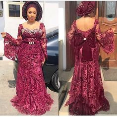 Latest Beautiful Aso-Ebi Trend - connecting the world Aso Ebi Lace Styles, African Lace Styles, African Lace Dresses, African Dresses For Women, African Fashion Dresses, African Women, African Style, African Kids, Kente Styles