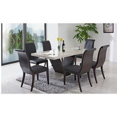 Best Marble Dining Tables And Chairs Sets Images On Pinterest - Grey marble dining table and chairs