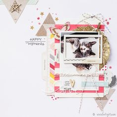 #papercraft #scrapbook #layout. Paper Issues Link Party | Happy Moments @ listgirl.com