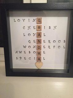 Special Scrabble Grandma Frame- Caring Words- Perfect present for grandma uniqu. Special Scrabble Grandma Frame- Caring Words- Perfect present for grandma unique gift Birthday present- Christmas Presen. Grandma Birthday Quotes, Birthday Presents For Grandma, Diy Gifts For Grandma, Christmas Gifts For Grandma, Gifts For Family, Diy Father's Day Gifts From Baby, Grandma Cards, Grandma Quotes, Grandmother Gifts