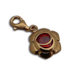 Charmas Sacral Chakra Stone Charm Gold Vermeil 1/2