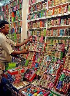 shopkeeper selling glass-bangles in Pakistan