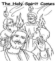 Pentecost coloring pages Pnksd Pentecost Pinterest