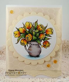 Tulips in Hobnail Pitcher http://powerpoppy.com/collections/digital-stamps/products/tulips-in-hobnail-pitcher