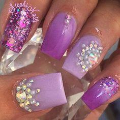Stephanie Loesch @_stephsnails_ #purple#laven...Instagram photo | Websta (Webstagram)