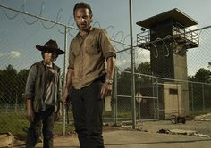 The Walking Dead - Carl Grimes (Chandler Riggs) and Rick Grimes (Andrew Lincoln)