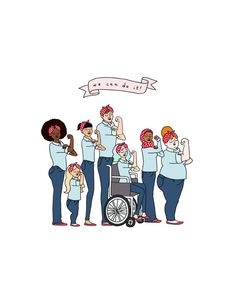 Intersektionale Rosie Riveter-Print  von roaringsoftly auf Etsy