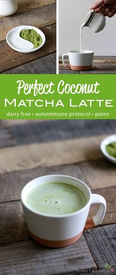 This AIP Coconut Matcha Tea Latte is the perfect coffee replacement for  anyone following the Autoimmune Protocol or an Autoimmune Diet. Drink it in  the morning to replace your morning coffee, or indulge in one as an  afternoon pick me up.  Good news for all of you following the autoimmune protocol, or simply  looking for a way to reduce your caffeine intake: I have the perfect  replacement for your morning cup of coffee. I introduce to you, the Perfect  Coconut Matcha Latte.  The perfect…