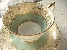 Vintage 1950's Aynsley cup and saucer antique tea by ShoponSherman