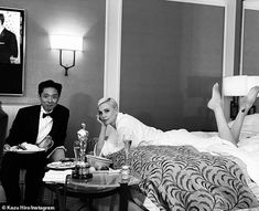 Winner:Charlize and Kazu spent the night celebrating Bombshell's only win, posing for a s...