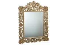 """Carved Roma Mirror on OneKingsLane.com    36"""" x 48"""" high  natural brown color"""