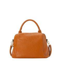 Handbag in natural leather.